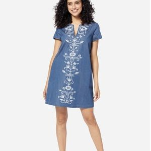 NWT Pendleton Tala Embroidered shift dress